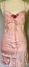**S M** AUGUST SILK intimates 100% Silk Nightgown Slips Lingerie Pink CAMI Tank