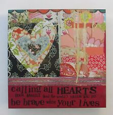 """R Calling all Hearts Family world Brave art KELLY RAE ROBERTS 6"""" canvas print"""
