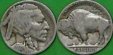 1921 US (P Mint) Buffalo Nickel Grades as Very Good