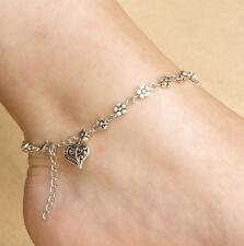Best Charm Tibetan Silver Plated Daisy Chain Flower Anklet/Ankle Bracelet Gift