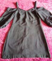 FOREVER NEW NAVY TIA BALLOON SLEEVE DAY DRESS SIZE 8. NEW WITH TAGS. RRP $99.99.