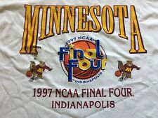 Vintage Starter 1997 Ncaa Final Four Tshirt Minnesota Gophers Basketball Xl