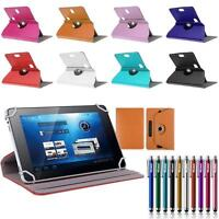 360?Folio Leather Box Case Cover For Toshiba TAB Android Window Tablet w/ Styus
