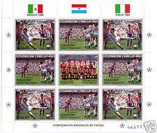 Briefmarken-Kleinbogen **, Paraguay, Fußball-Weltmeisterschaften 1986 und 1990