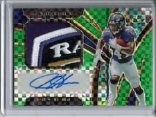 JUSTICE HILL AUTO JERSEY LOGO PATCH RC /5 2019 PANINI SELECT GREEN PRIZM SP