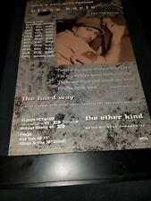 Steve Earle The Other Kind Rare Original Radio Promo Poster Ad Framed!