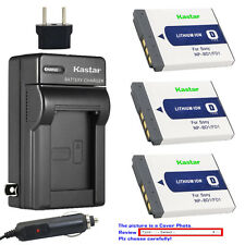 Kastar Battery AC Charger for Sony OEM NP-BD1 NP-FD1 & Genuine BC-CSD BC-CS3