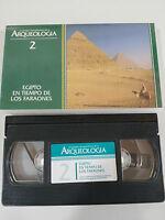 EGIPTO EN TIEMPO DE LOS FARAONES VHS GRANDES DESCUBRIMIENTOS DE LA ARQUEOLOGIA