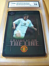 OLE GUNNAR SOLSKJAER MANCHESTER 2003 UD STRIKE FORCE LAYING IT ON LINE GRADED 10