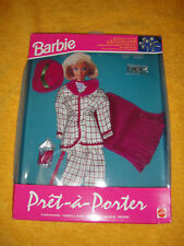 Mattel Barbie Fashion pret a porter Fashion Moda atuendo OVP rosa blanco