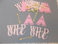 Wild One Girl Confetti  Confetti 150 pieces (Pinks and Gold Glitter)