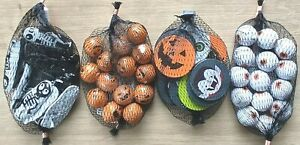 Halloween Chocolate Coins / Pumpkins / Eyeballs / Skeletons Trick Treat Nets