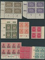Lot Stamp Germany Blocks Inflation Era Hoard Dealer Stock HAN Airmail MNH