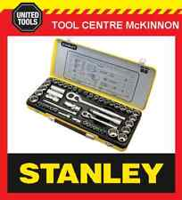 "STANLEY 89-535 50 PIECE 1/4"" & 1/2"" DRIVE METRIC & IMPERIAL SOCKET SET IN CASE"