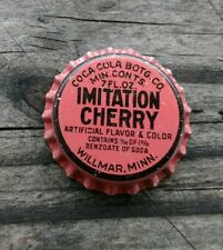 1910-1920 WILLMAR MINNESOTA Coca Cola Cherry BEVERAGE Solid Cork BOTTLE CAP SC50