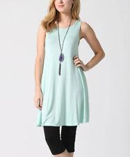 Zenana Outfitters tunic top plus size US 3X UK 20/22 mint green swing sleeveless