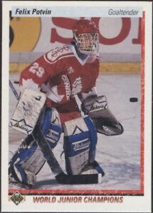1990/91 Upper Deck - Felix Potvin ROOKIE - (Toronto Maple Leafs) #458