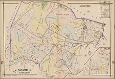 1910 MORRIS TOWNSHIP, NEW JERSEY, MORRIS COUNTY ALMS HOUSE SUSSEX STA ATLAS MAP