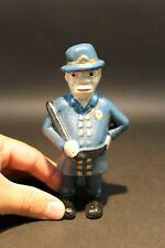 Antique Vintage Style Cast Iron Coin Bank Policeman