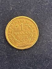 More details for usa 1852 gold one dollar coin in good very fine condition - extremely rare -