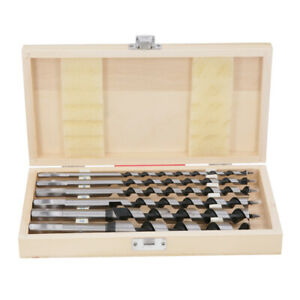 Wellcut Auger Drill Bit Set 6 Piece (6mm to 20mm) Carbon Steel in Wood Case