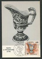 FRANCE MK 1976 EUROPA CEPT FAIENCE MAXIMUMKARTE CARTE MAXIMUM CARD MC CM d5793