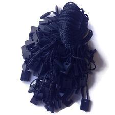 """1000 7"""" Black color Hang Tag Nylon String Snap Lock Pin Loop Fastener Hook Ties"""