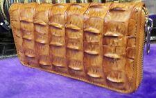 Clutch Crocodile Alligator Skin Leather Bone Zipper Women's Wallets Genuine