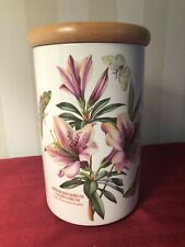 "Portmeirion Botanic Garden 8.5"" Canister Rhododendrum Liliiflorum  wi Lid"