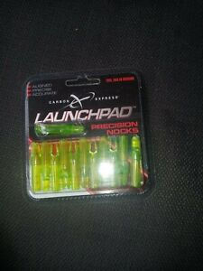 @NEW@ 12- Carbon Express Launch Pad Precision Nocks! Green .234 ID Arrows