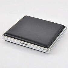 1 Boîte étui Porte-cigarettes Noir pour 20 cigarettes 10cmx9cm G00104