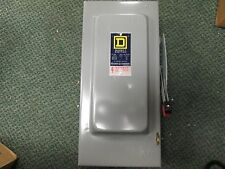 Square D Non-fusible Safety Switch HU-262 60A 600V 2P New Surplus