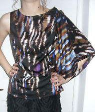 Pied A Terre Frill Print Sleeve Shell Top Multi Coloured (RRP £65)