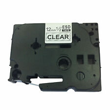 Brother Compatible TZ131 For P-Touch PT220 PT300 12mm Black on Clear Label Tape