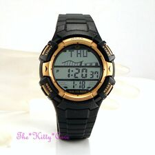 Omax Waterproof 10 Bar Gents Ladies Unisex Chronograph Sports Alarm Gold Watch