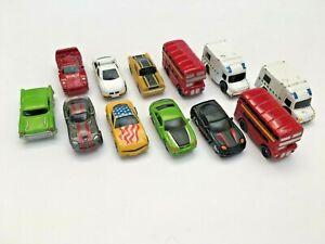 UNIDENTIFIED MICRO VEHICLES PLASTIC DIECAST MACHINES CAR BUS AMBULANCE LOT OF 12