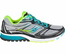New Saucony S10297-1 Guide 9 Narrow Running Shoes, Grey/Blue/Citron, US 7.5