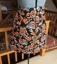 ZARA Floral Zip Front Skirt New With Tags Women's Size XS