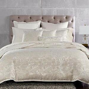Hudson Park MARBLED DECO 6 pc King Duvet Shams Skirt Set $1340 New *Read*