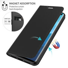 For Samsung Galaxy S20 S10 S9 Plus Magnetic Slim Flip Leather Wallet Case Cover