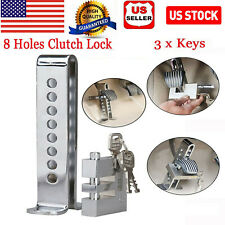 Car Brake Pedal Lock Security With 3 Keys Stainless Steel Clutch Lock Anti-theft