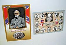 General Robert E. Lee and Confederate Generals Civil War Postcards Set of 2