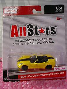 Maisto All Stars 2014 CORVETTE STINGRAY CONVERTIBLE✰Canary Yellow✰Series 14✰1:64