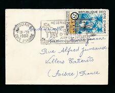 FRENCH Costa d'Avorio 1962 BUSTA IN MINIATURA riserva ANIMALI TIMBRO 25F