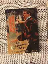 Signed Trading Card Lou Carnesecca St Johns Coach Hall Of Famer