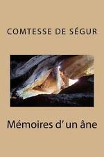 Memoires d' un Ane by Comtesse de Segur (2015, Paperback, Large Type)