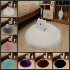 Round Fluffy Faux Fur Rugs Anti-skid Area Home Fuzzy Floor Mat Pad Bedroom Carpe