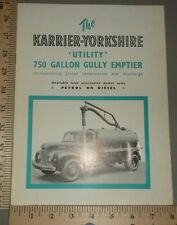1954 Karrier Yorkshire Utility 750 Gallon Rootes Brochure Original