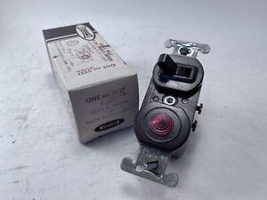 Leviton 5227 Flush Toggle Switch & Neon Pilot Light, Used