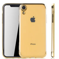 Apple IPHONE XR Funda Estuche Móvil Funda Protector Funda Protectora Carcasa Oro